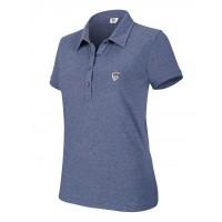 Polo da Golf Donna Maniche Corte Melange. Abbigliamento.golf